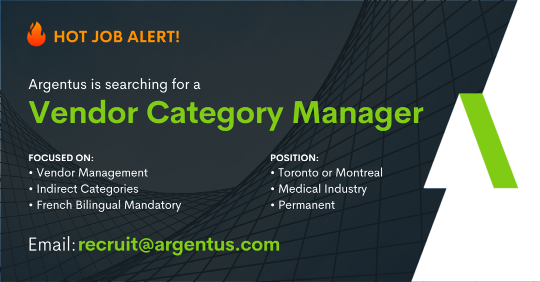 Vendor Category Manager – French Bilingual